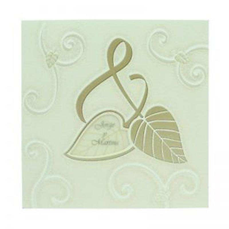 Invitación de boda ref.26019 - Impresión GRATIS.