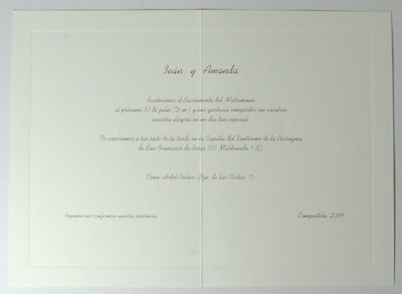 Invitación de boda tarjetón Ref.3203307115 Impresión GRATIS