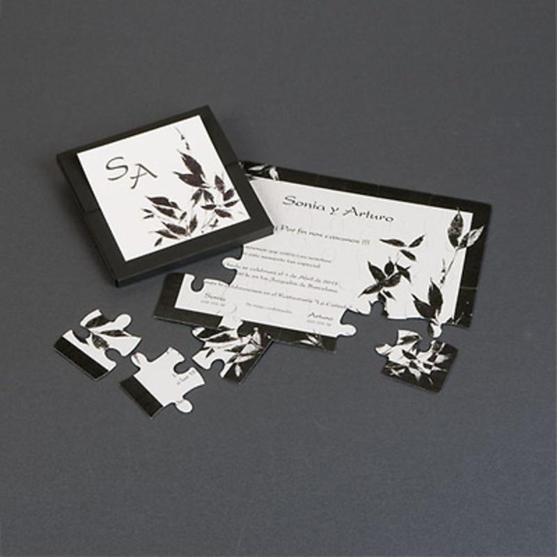 Invitación de puzzle tipo zen - Ref.3338115311