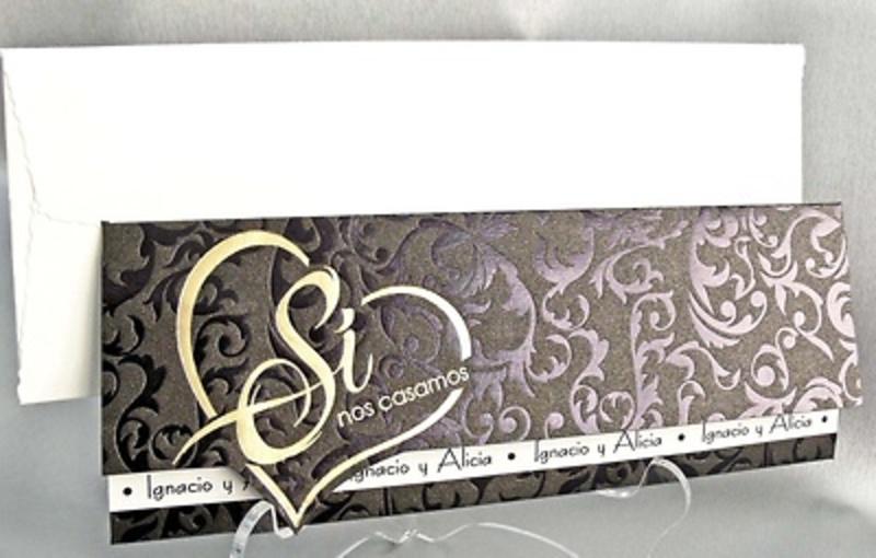 Invitación negra y oro Ref.32815 Impresión GRATIS