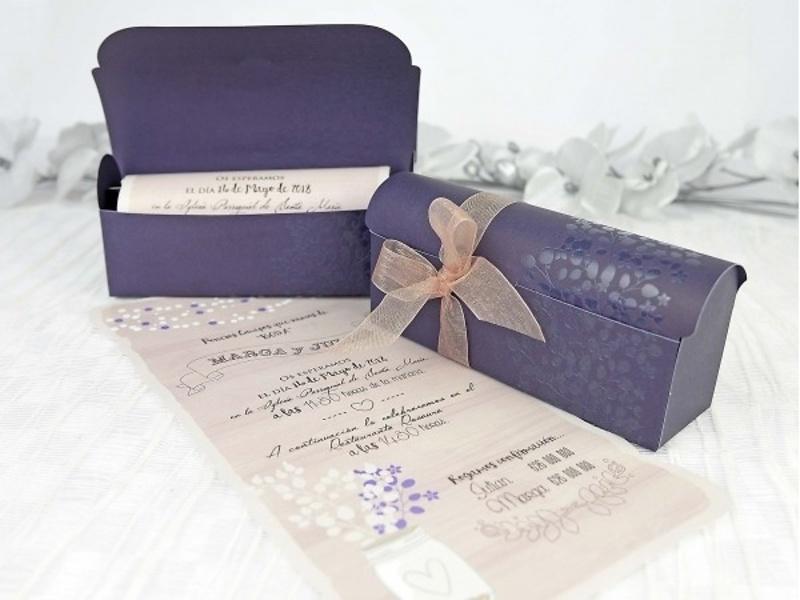 Invitación pergamino vintage 39237