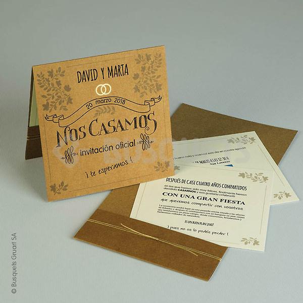 Invitaciones busquets ref.3204118117 - Impresión GRATIS