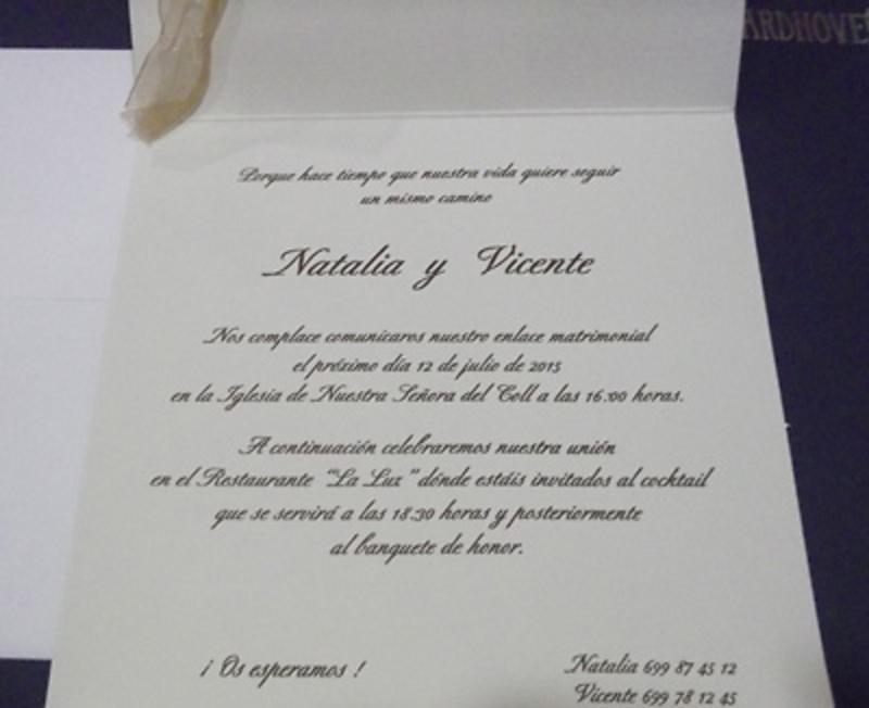 Invitaciones cardnovel 34934 - Impresión GRATIS.