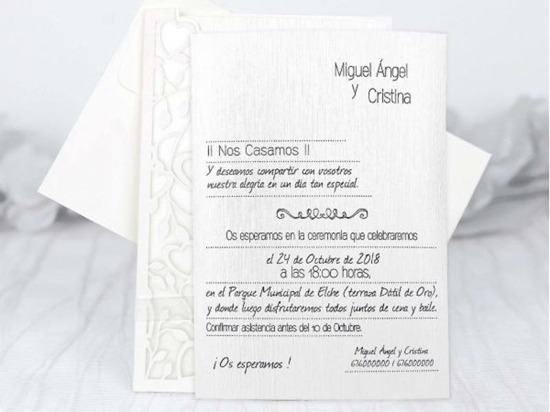 Invitaciones cardnovel 39226