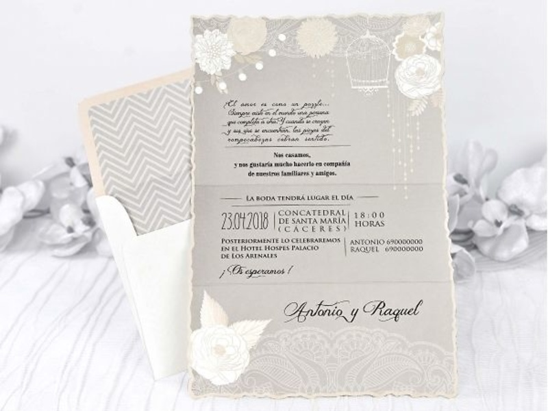 Invitaciones cardnovel 39228