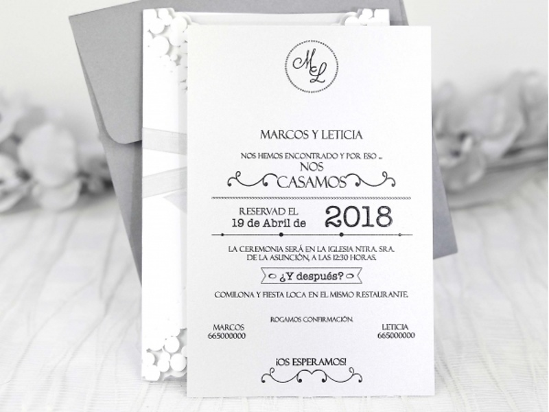 Invitaciones cardnovel 39233