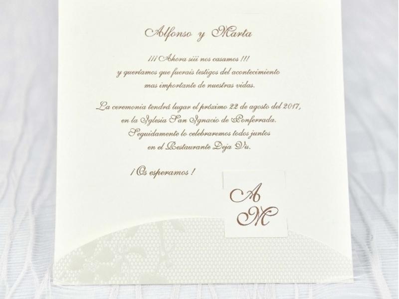 Invitaciones cardnovel ref.39102