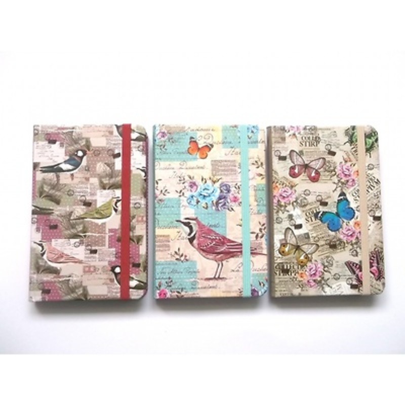 Libreta mariposas y pájaros