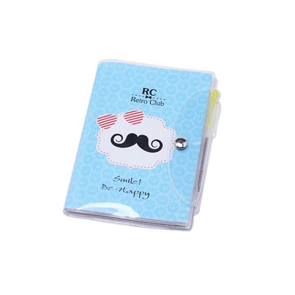 Libreta notas pvc moustache