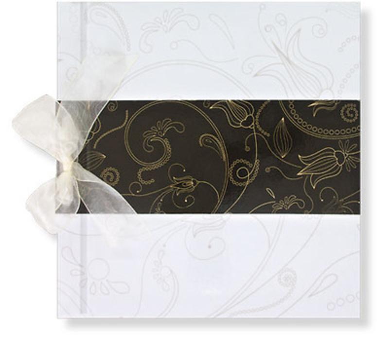 Libro de firmas blanco y marrón oscuro Ref. 700.017