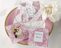 Detalles de boda set de dos posavasos rosa Ref.22 ETIQUETAS GRATIS.