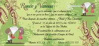Invitación boda Ref.22712 Impresión GRATIS