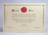 Invitación de boda Ref.100733