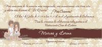 Invitación de boda Ref.22710 Impresión GRATIS