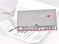 Invitación de boda avión ref.35654