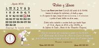 Invitación de boda calendario ref.22720. Impresión GRATIS.