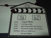 Invitación de boda cardnovel Ref.50614 IMPRESION GRATIS