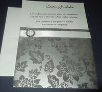 Invitación de boda cardnovel plata Ref.32827 Impresión GRATIS