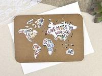 Invitación de boda mapa del mundo 39602