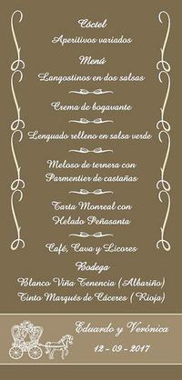 Minutas boda Anaís