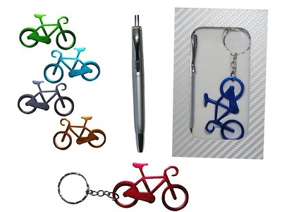 Bolígrafo y llavero abridor bicicleta
