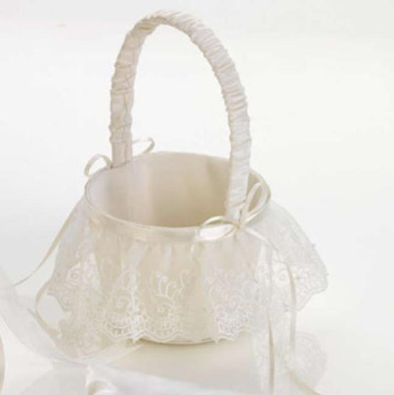 Cesta de arras bordado perlas Ref.1392