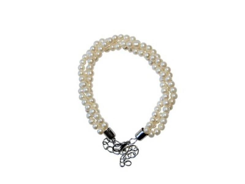 Detalle de boda pulsera perlas triple Ref.779 Etiquetas GRATIS