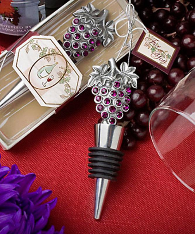 Detalle de boda tapón de vino uvas REf.2126