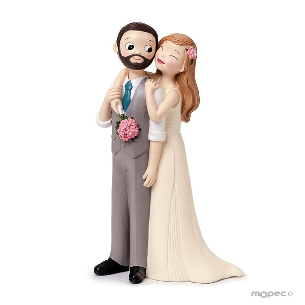 Figura pastel novios árbol