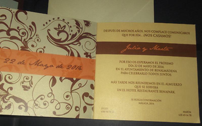 Invitación Ref.10003 - Impresión GRATIS