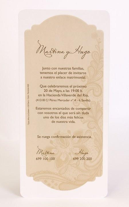Invitación Ref.100539 - IMPRESION GRATIS