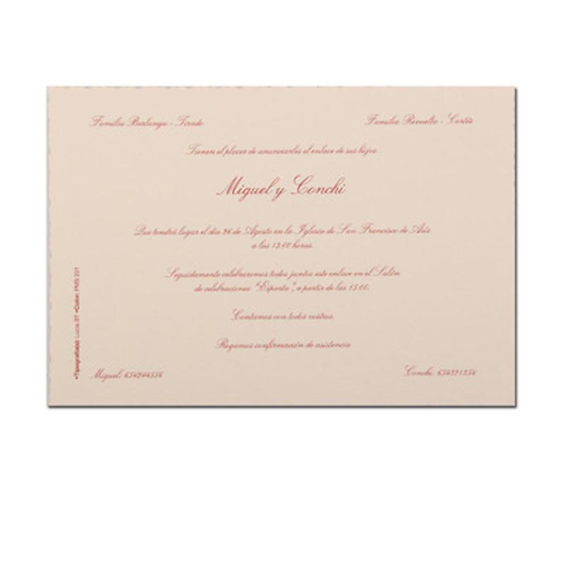 Invitación boda Ref.3203907113 Impresión GRATIS