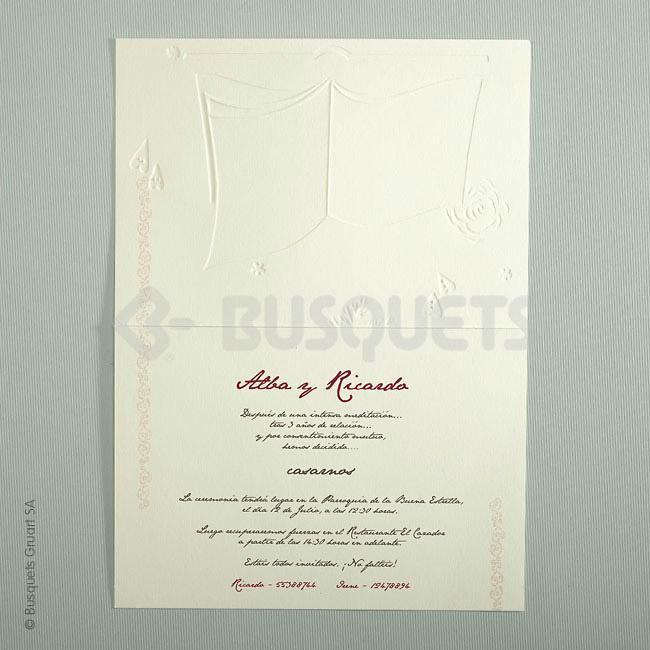 Invitación boda lovebook IMPRESION GRATIS