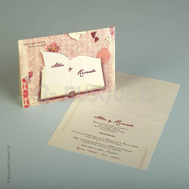 Invitación boda ref.18935 IMPRESION GRATIS