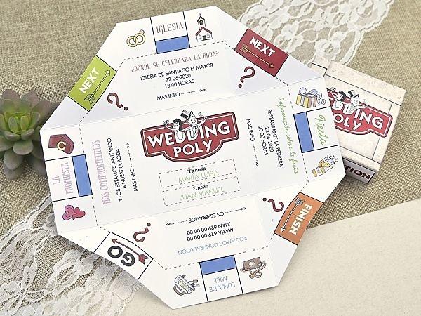 Invitación boda monopoli 39604
