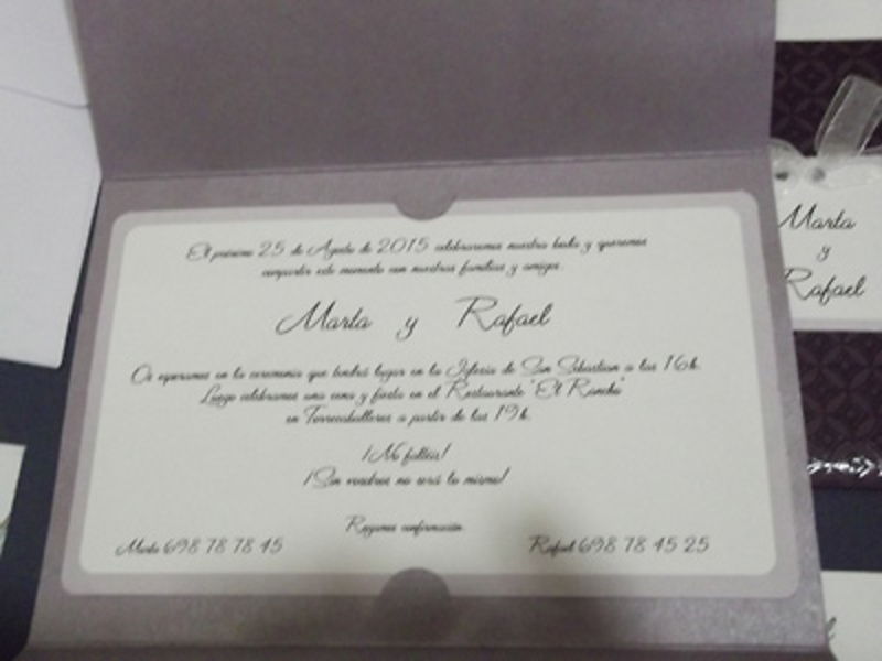 Invitación cardnovel 34930 - Impresión GRATIS.
