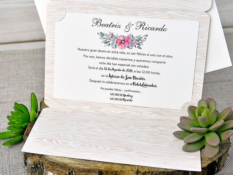 Invitación cardnovel 39303