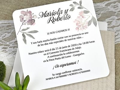 Invitación cardnovel 39626