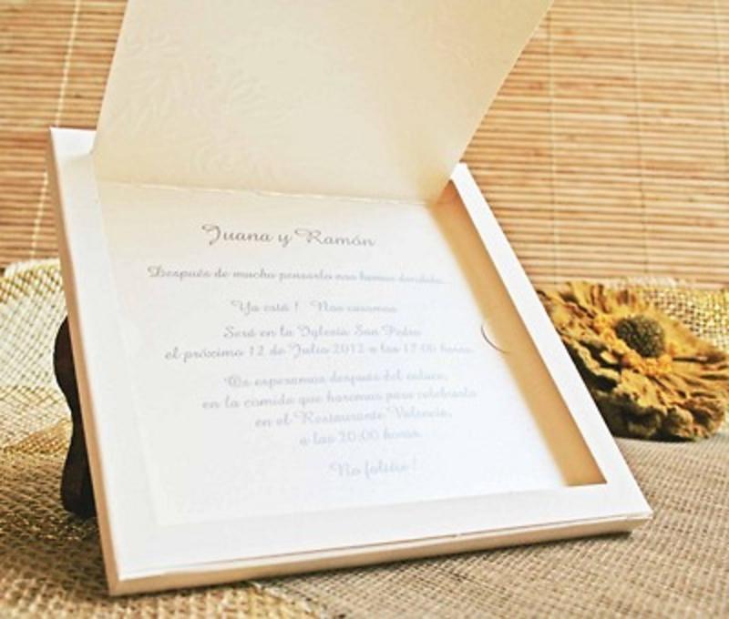 Invitación cardnovel Ref.32403 - Impresión GRATIS