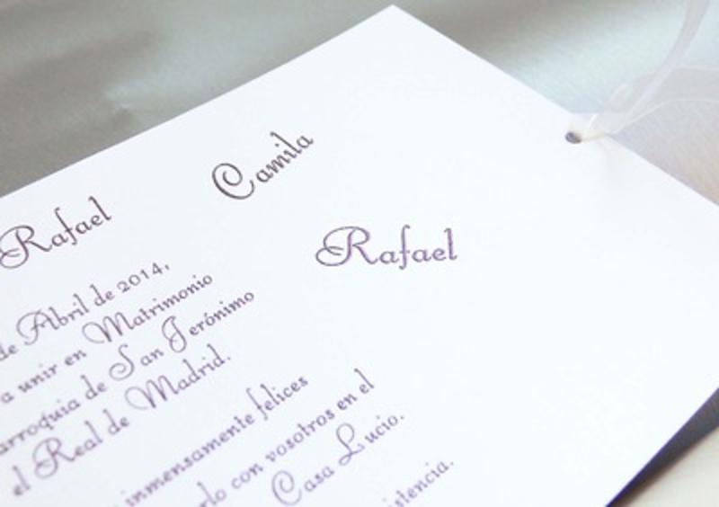 Invitación cardnovel Ref.33730 IMPRESION GRATIS