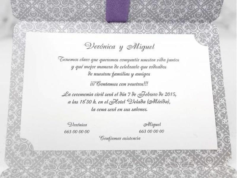 Invitación cardnovel ref.39113