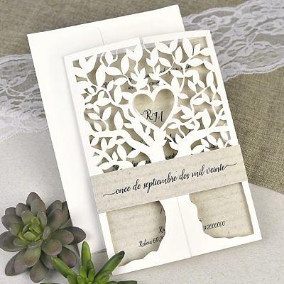 Invitación boda árbol