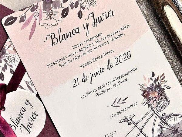 Invitación de boda 39812
