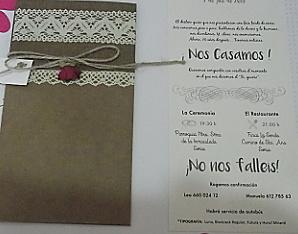 Invitación de boda 9028