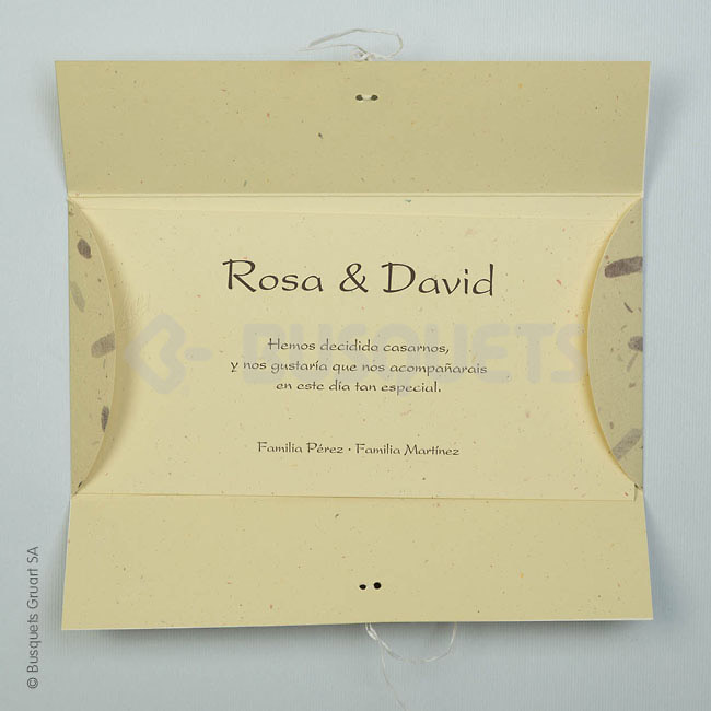 Invitación de boda Buttons Ref.18936