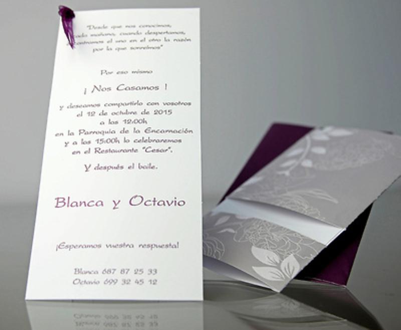 Invitación de boda Cardnovel 34906 Impresión GRATIS