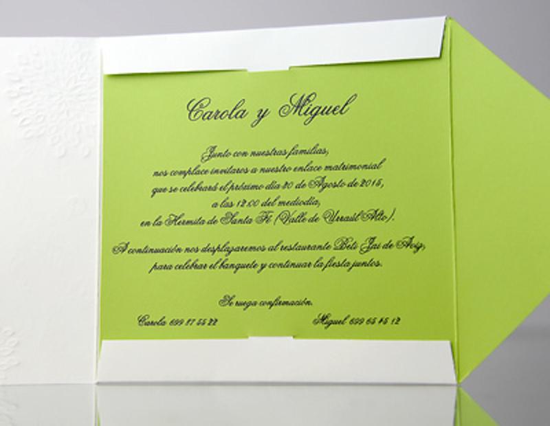 Invitación de boda Cardnovel 349261 Impresión GRATIS