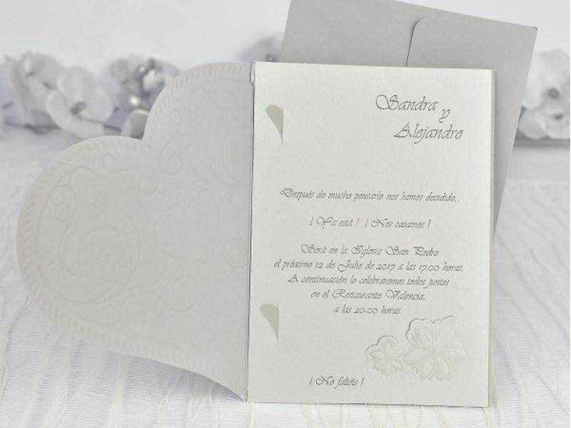 Invitación de boda Cardnovel ref 35103