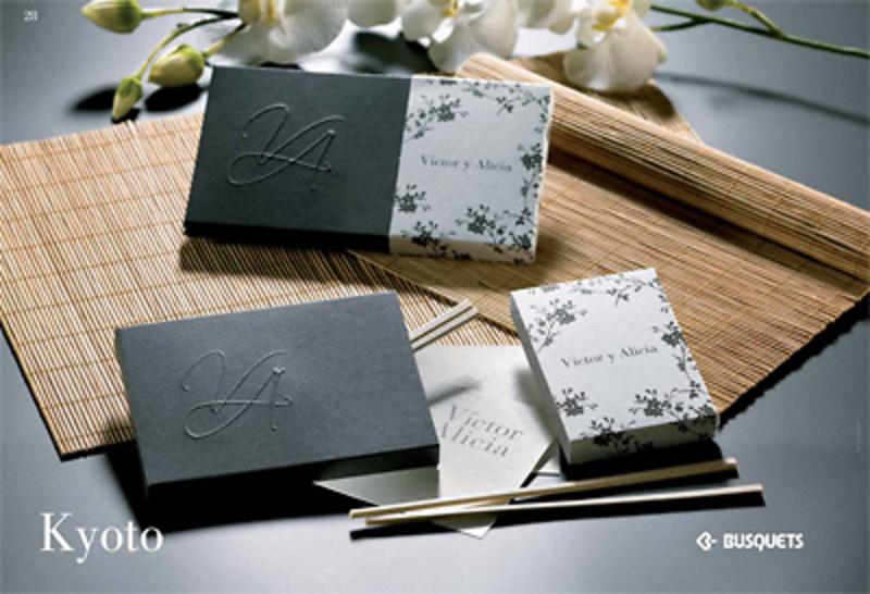 Invitación de boda Kyoto Ref.15319 IMPRESION INCLUIDA