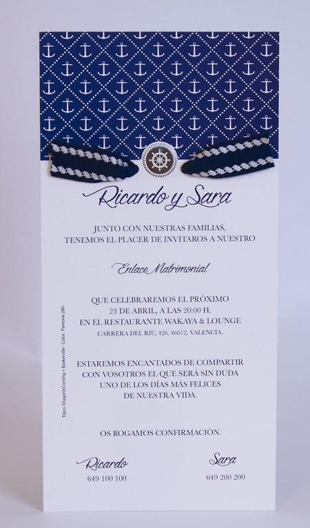 Invitación de boda Ref.100725- IMPRESION GRATIS